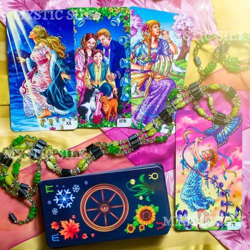 Таро Колесо года (безрамочное) (Wheel of the Year Tarot (borderless))